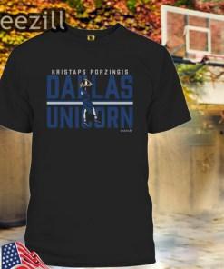 Kristaps Porzingis Dallas Unicorn NBPA T-Shirt