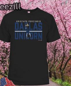 Kristaps Porzingis Shirt, Dallas - NBPA Officially Licensed