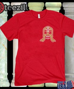 Logo George Kittle Lucha Mask T-Shirt Officially Lucha Mask