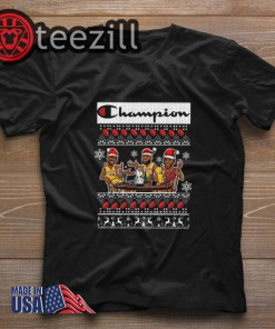 Official Champion Lebron James Kobe Bryant Michael Jordan Christmas Shirt