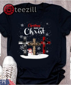 Snowman Christmas Begin With Christ Tshirts