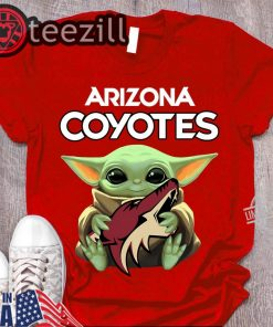 Arizona Coyotes Logo Hug Baby Yoda Shirts