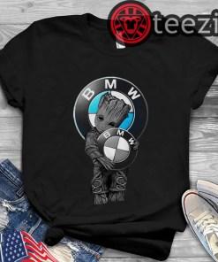 Baby Groot Hugs BMW Logo Tshirt