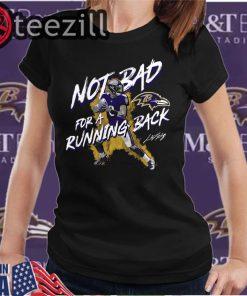 Baltimore Ravens Lamar Jackson NFL Not Bad For A Running Back T-Shirts