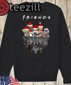 Chibi Characters Water Reflection Mirror Friends Christmas Shirts