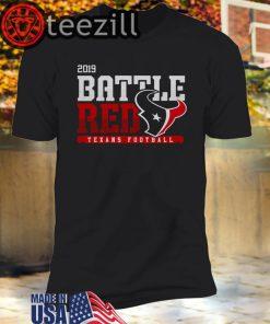 Houston Texans Football Battle Red 2019 Unisex T-shirt