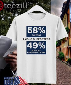 Impeach And Remove Shirt 49 Percent Supports Removing Trump Tee