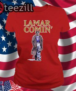 Lamar Comin 8 Shirts - Lamar Jackson Shirt - Baltimore Ravens Tshirt