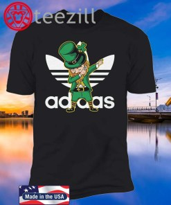 Adidas Leprechaun Iris Dabbing St Patrick's Day Tshirt