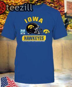 Iowa Hawkeyes Black 2019 Holiday Bowl Bound Spike T-Shirts