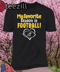 Kansas Jayhawks My Favorite Season Is Football T-shirt