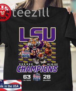 LSU Tigers 2019 Peach Bowl Champions Shirt
