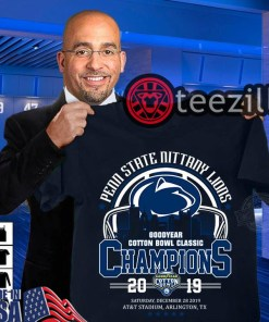 Penn state nittany lions goodyear cotton bowl champion 2019 T ShirtPenn state nittany lions goodyear cotton bowl champion 2019 T Shirt