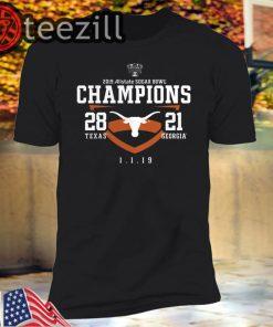 Texas Longhorns 2019 Sugar Bowl Champions T-Shirt