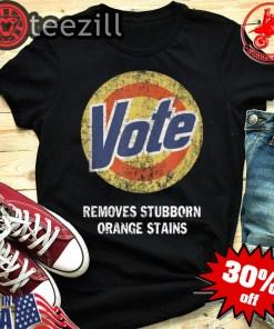 Orange Anti Trump Vote Removes Stubborn Shirt