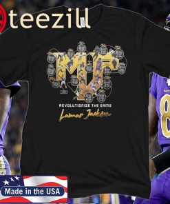 2019 MVP LAMAR JACKSON BALTIMORE RAVENS TEE SHIRT Limited Edition