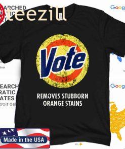 Anti-Trump Halloween Costume Vote Detergent Funny Vintage Tee Shirt