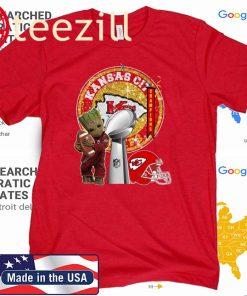 Baby Groot Kansas City Chiefs Super Bowl LIV Champions Shirt