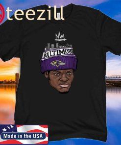 Baltimove Ravens Lamar Jackson King Work T Shirt