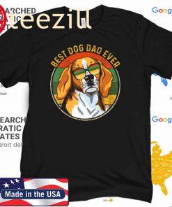 Best Dog Dad Ever Retro Vintage Tshirt