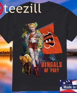 Harley Quinn Cincinnati Bengals Of Prey Logo Shirt
