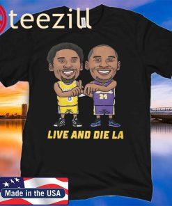 KOBE BRYANT LIVE AND DIE LA SHIRT NBA LOS ANGELES LAKERS