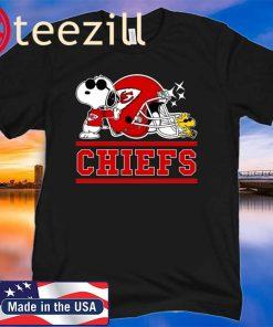 Kansas City Chiefs Joe Cool And Woodstock Snoopy Mashup Shirt
