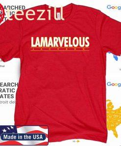 Official Lamar Jackson Lamarvelous Official Tee Shirt