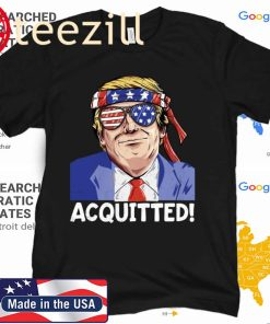 President Trump 2020 Acquitted Pro Republican US Tee Shirt