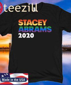 Stacey Abrams 2020 President - LGBT Rainbow Sticker T-shirt