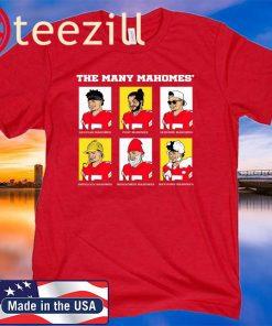 The Many Mahomes MVP Kansas City 2020 Tshirt