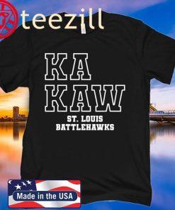 Battlehawks Football Ka Kaw St. Louis T-Shirt
