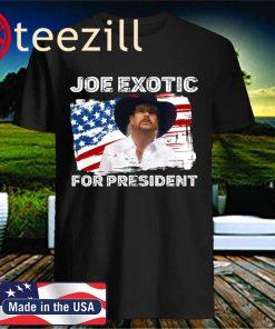 Joe Exotic for President 2020 Flag Tiger King Classic TShirt