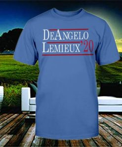 DEANGELO LEMIEUX 2020 T- SHIRT - MARIO LEMIEUX AND TONY DEANGELO - NEW YORK RANGERS