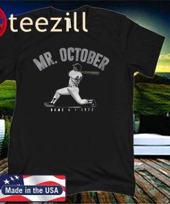 Reggie Jackson Mr. October Shirt, New York - MLBPAA