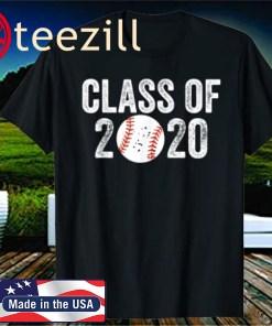 Baseball Fan Class Of 2020 Graduation Senior Funny Quarantine Gift T-Shirt