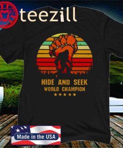 BigFoot Hide and seek world champion vintage unisex shirt