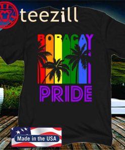 Boracay Pride Gay Pride LGBTQ Rainbow Palm Trees Shirt