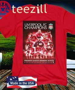 LFC Premier League Champions 19-20 Official Tshirt
