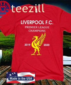 LIVERPOOL LFC PREMIER LEAGUE CHAMPIONS 2019 - 2020 T-Shirt