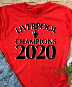 Liverpool 2019/20 Champions T-Shirt Premier League Winners, LIVERPOOL CHAMPIONS TROPHY 2020 shirt Champions League Winners 19 Never Give Up