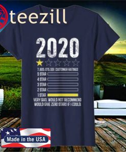 review Very Bad Would Not Recommend 1 star funny 2020 Shirt