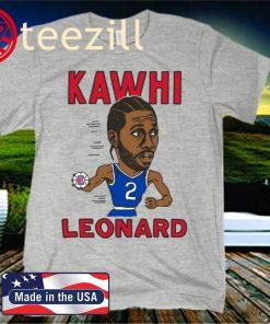Kawhi Leonard Caricature Official T-Shirt