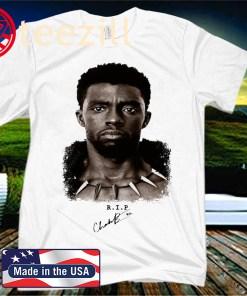 Rip Chadwick Boseman Wakanda Forever 1977-2020 Tshirt