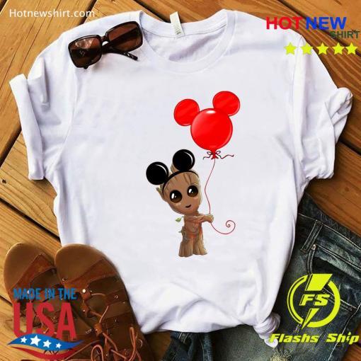 Baby Groot Balloon Mickey Mouse 2020 Halloween TShirt