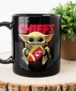 Kansas city chief mug, tampa bay buccaneers mug, supper bowl 2021, baby yoda black mug