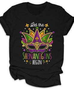 Let The Shenanigans Begin Funny Mardi Gras 2021 Shirt, Gift For Men Women