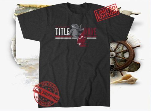 Alabama Crimson Tide Tuscaloosa Title Wave Tshirt