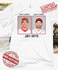 JOEY VOTTO THEN & NOW MLBPA SHIRT