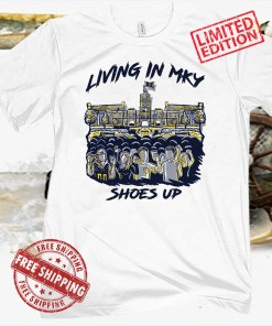 LIVING IN MY SHOES UP TEE SHIRT